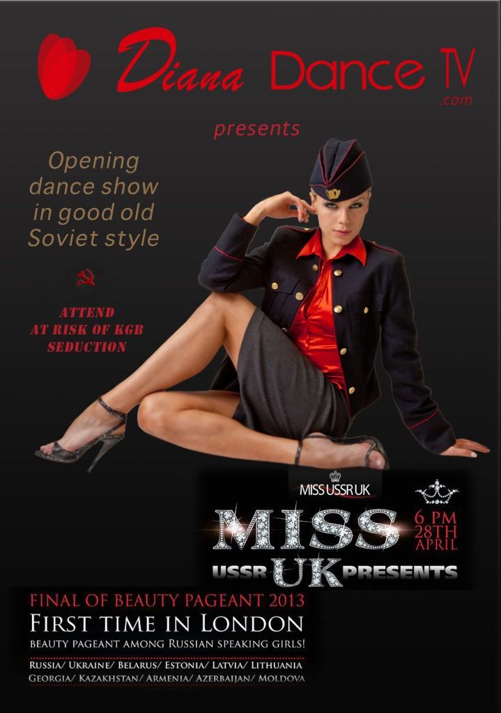 Flyer for Miss USSR DanceShow
